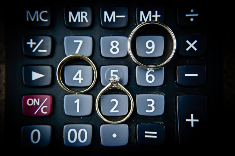 wedding rings with calculator