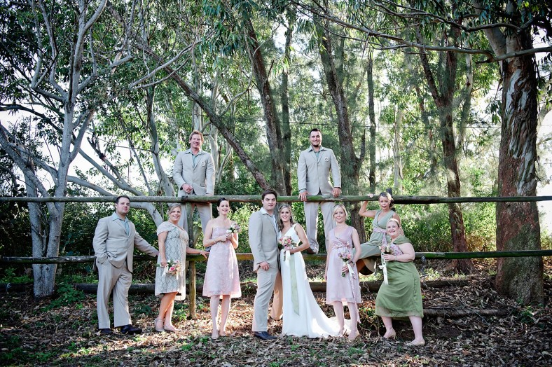 Bridal party at stables