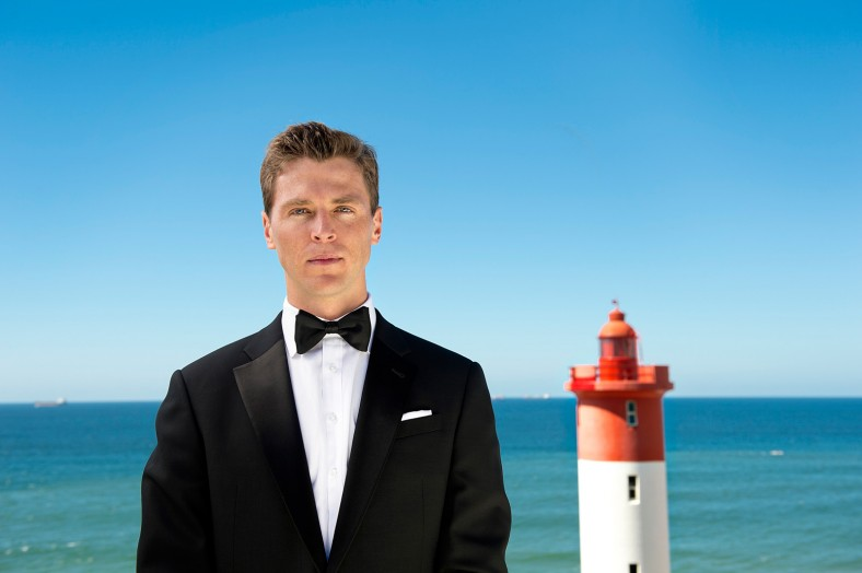 Groom and lighthouse