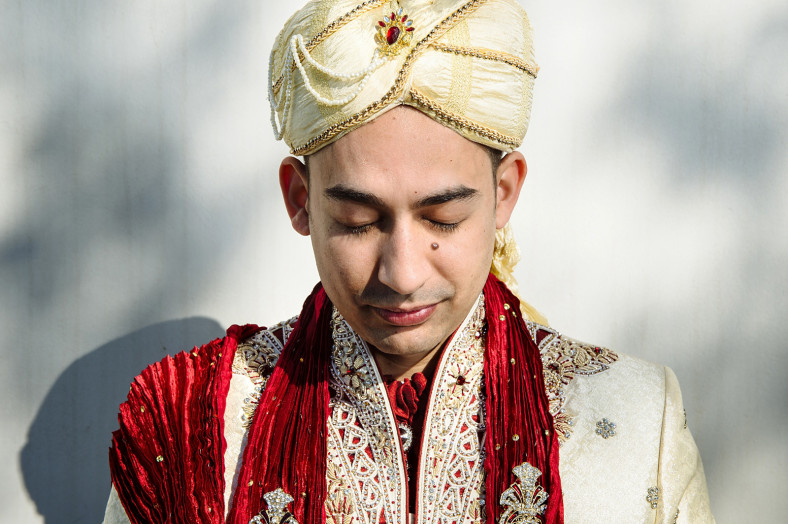 Indian groom with turban