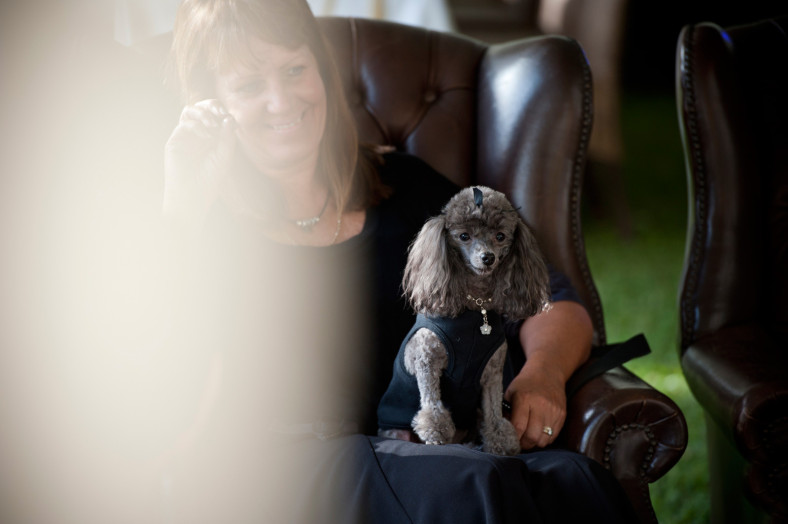 woman with poodle