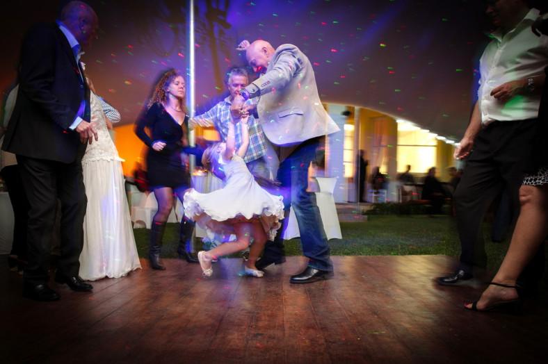 girl dancing at wedding