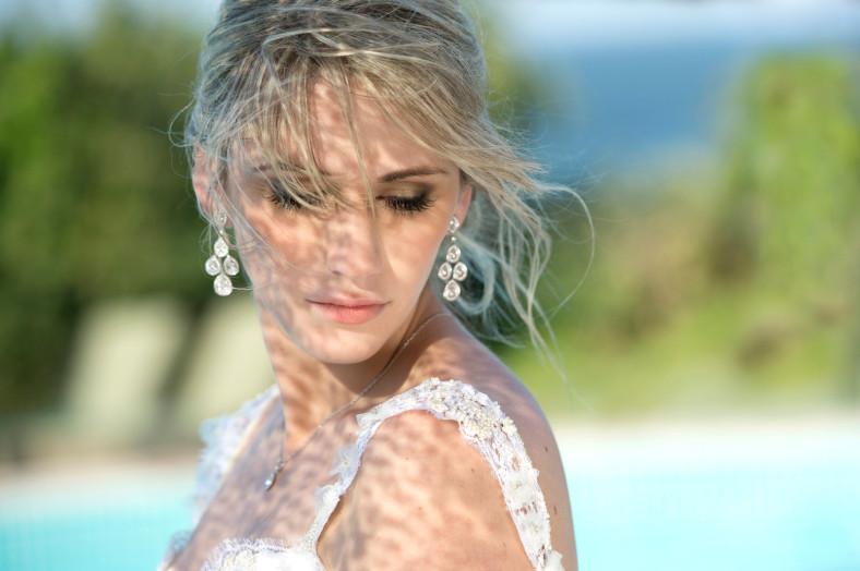 bride in shade