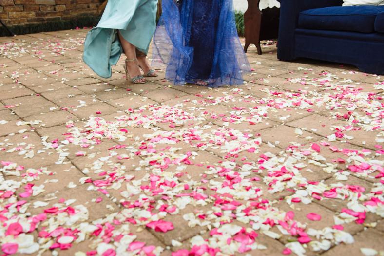 Wedding petals at Woodridge