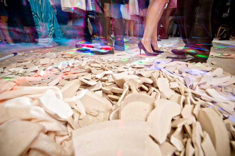 broken plates at greek wedding