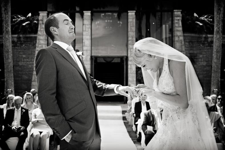 terrified man getting married
