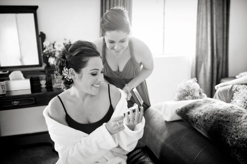 girls getting ready for a wedding