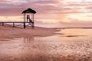Mauritius sunset wedding