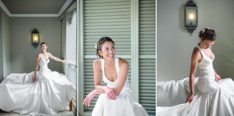 High fashion wedding gown