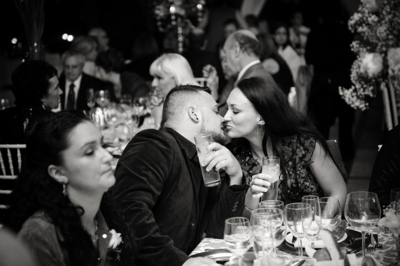 kiss in a crowded room