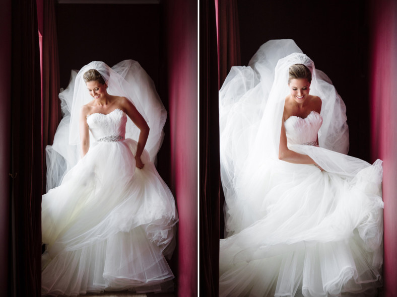 bride in massive dress