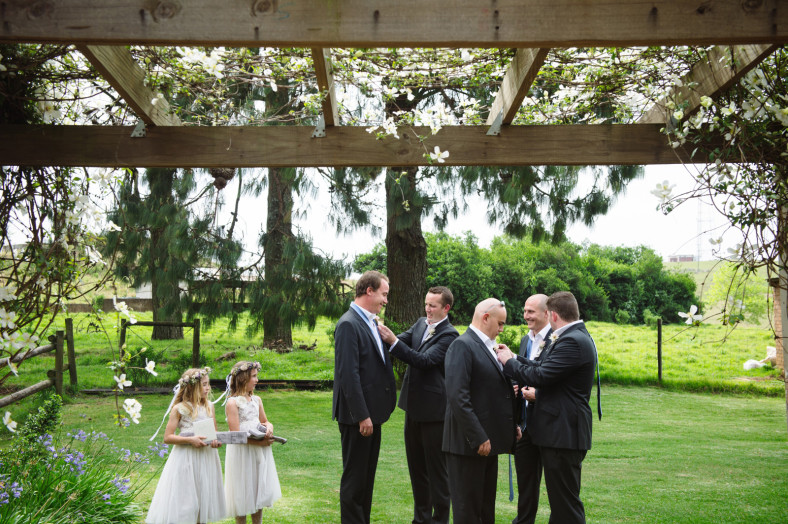 groom getting married