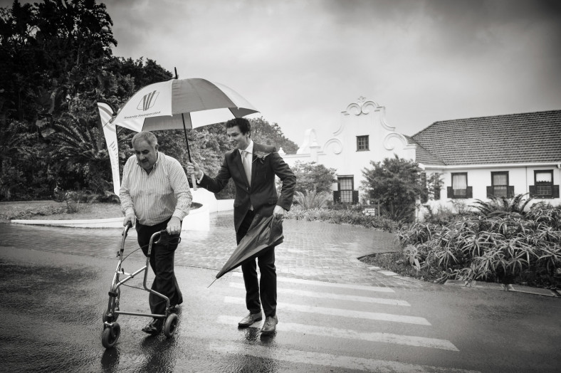 Rainy wedding in South Africa