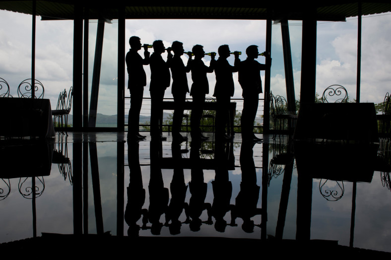 groomsmen silhouette