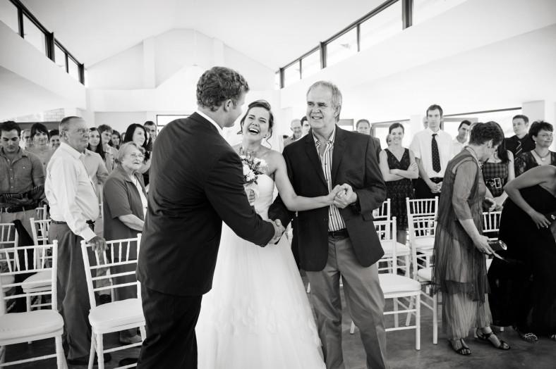 bride hand over