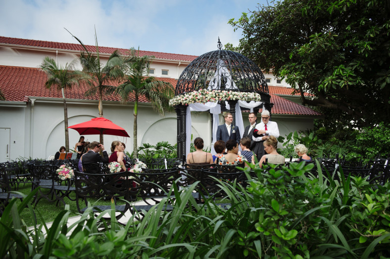 the oyster box hotel wedding photography ceremony