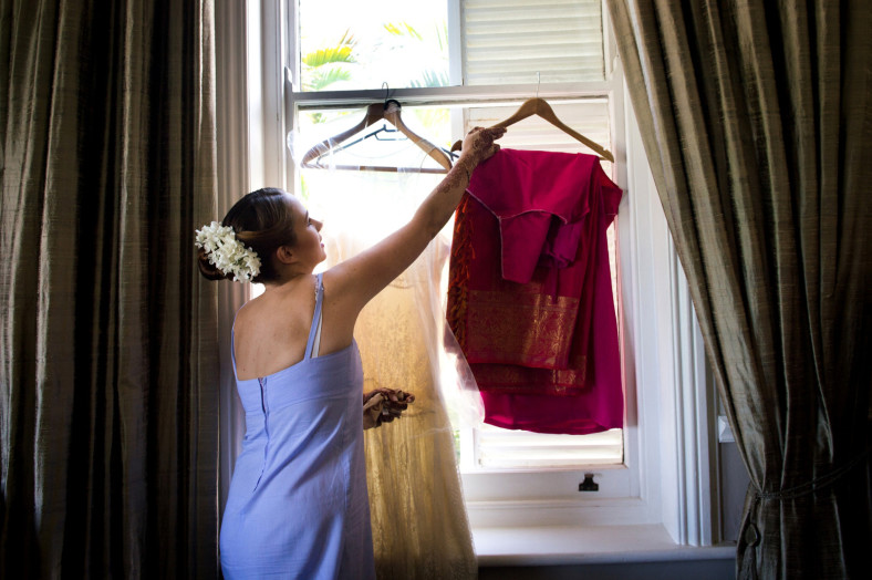 Hindu Christian Wedding Documentary Wedding Photographer Bride