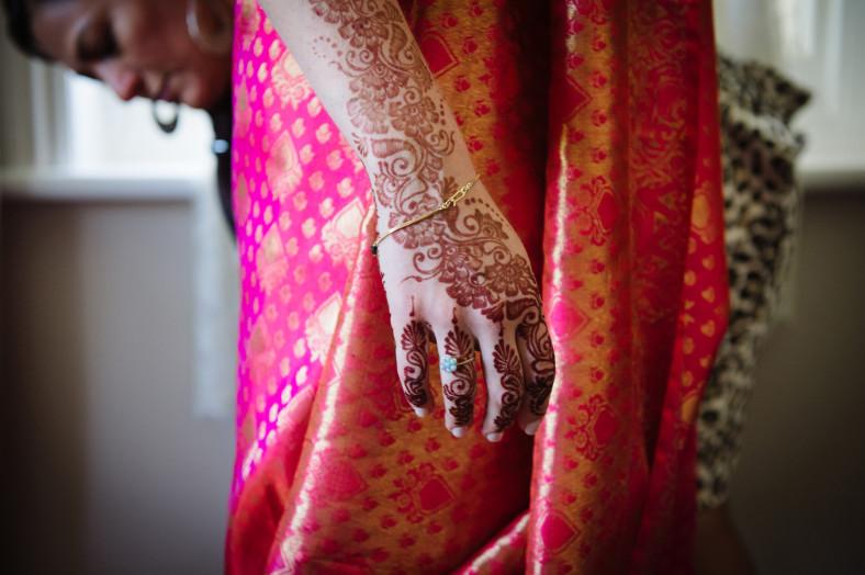 Bride with Mendhi