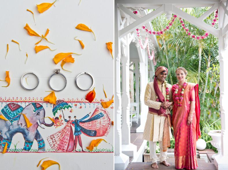 Hindu Christian Wedding Documentary Wedding Photographer Bride and Groom