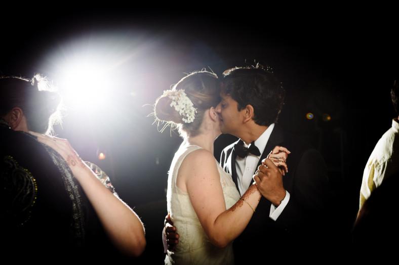 Hindu Christian Wedding Documentary Wedding Photographer Reception First Dance
