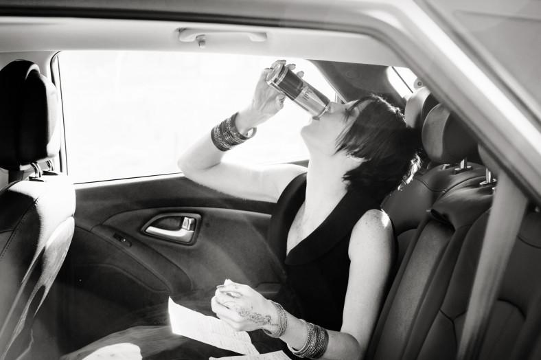 bride drinking redbull