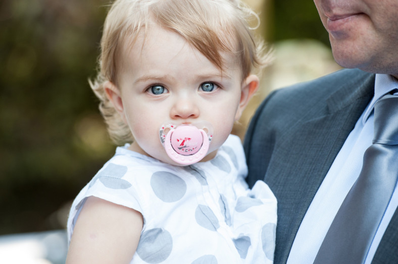 cute baby at wedding