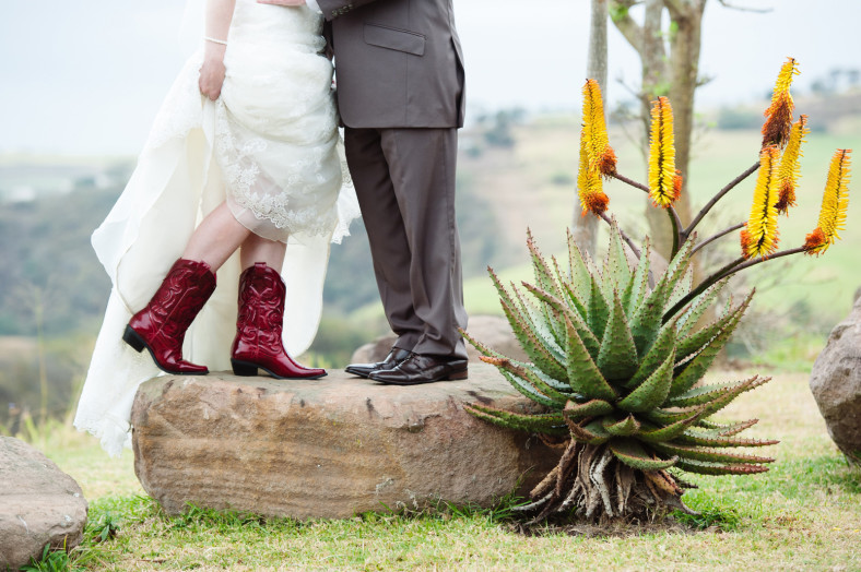 red bronx boots wedding