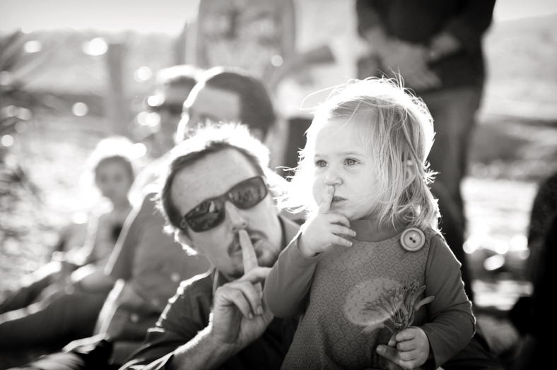 Dad and Daughter Shush