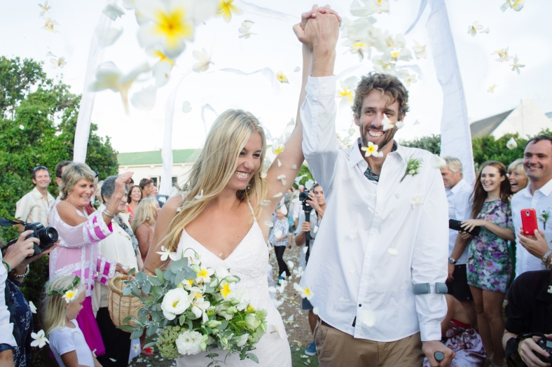 Hippy Bride and Groom Confetti