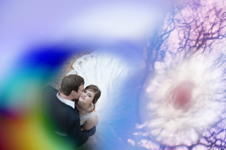 Colourful Bride and Groom
