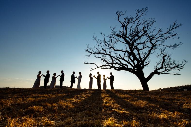 Safari wedding silhouette
