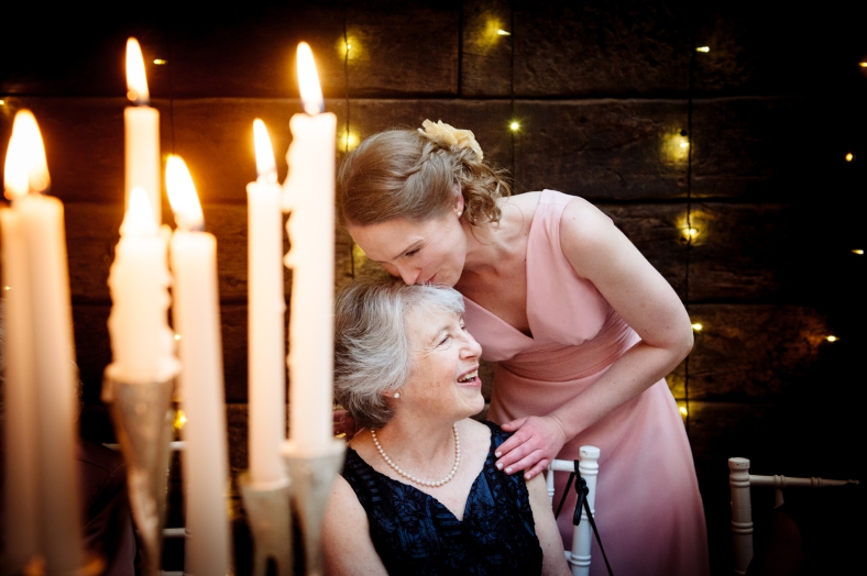 Mother and Daughter at wedding