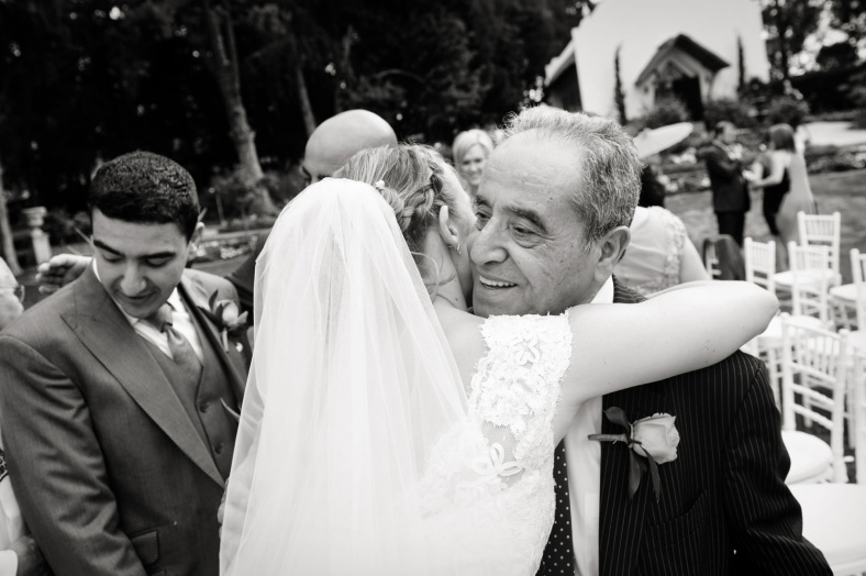 Bride hugging Father-In-Law