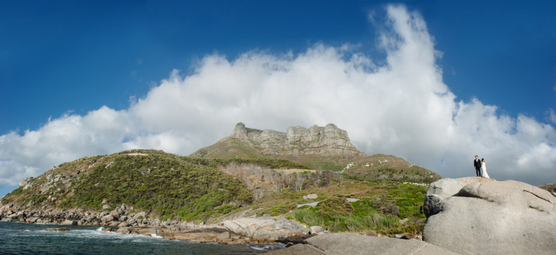 Bride and Groom Cape Town panoramic