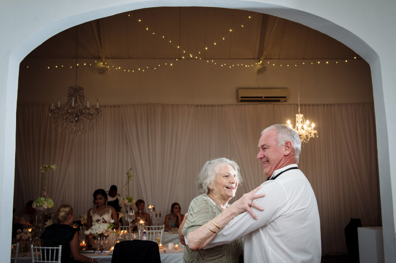 Grandparents dancing