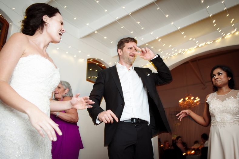 Groom on dance floor
