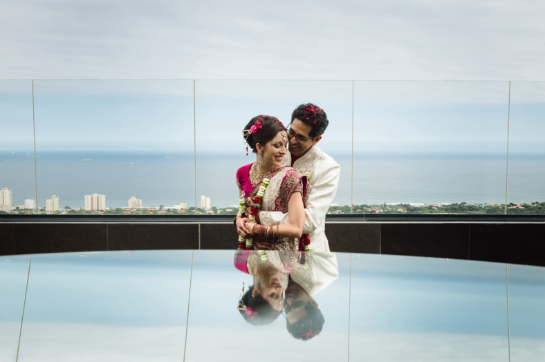 Hindu Christian Wedding couple