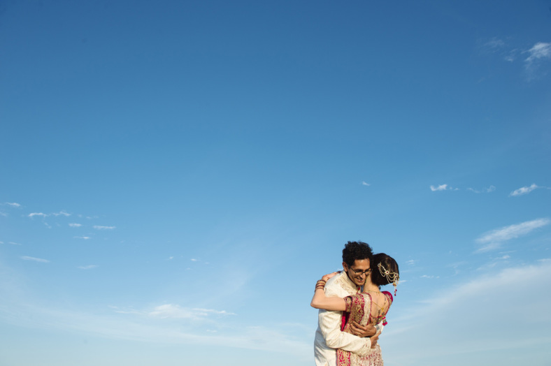 Hindu Christian Beach Wedding