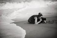 Photographer on beach