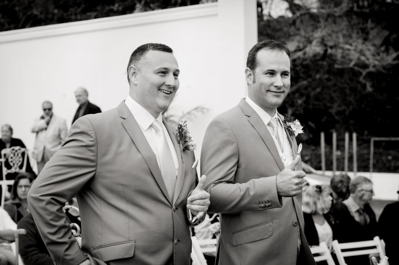Happy groom and best man