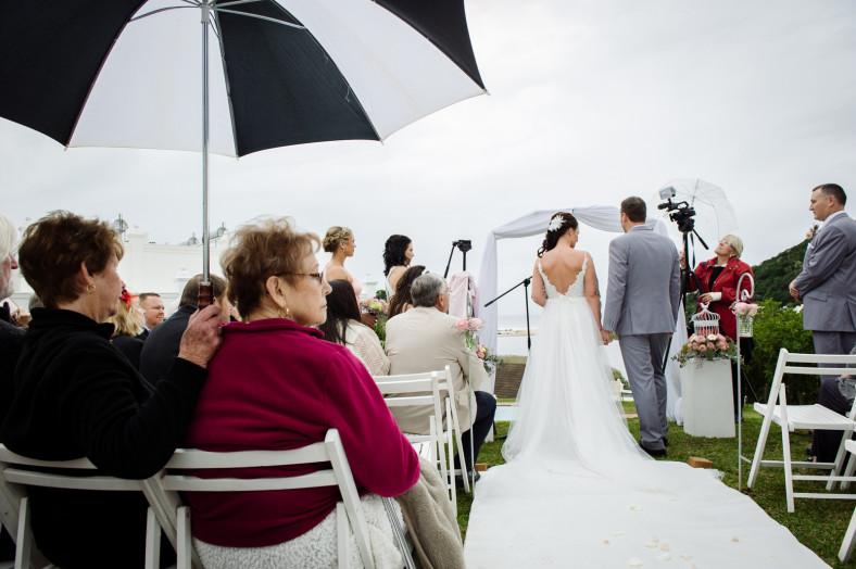 rainy wedding ceremony