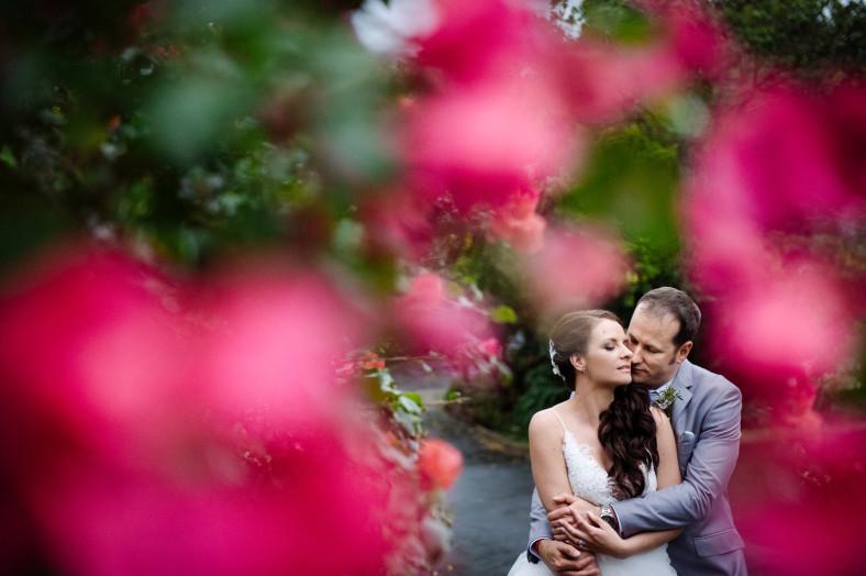 bougainvillea bride and groom