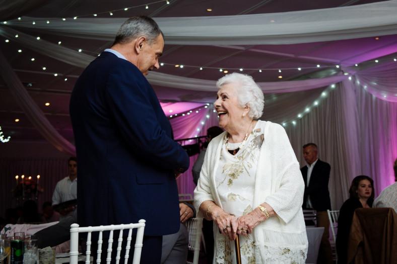 granny at a wedding