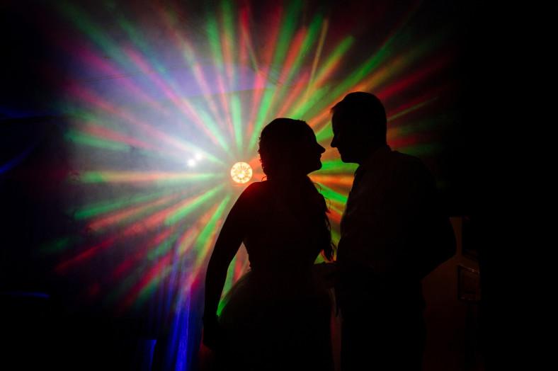 dancefloor silhouette