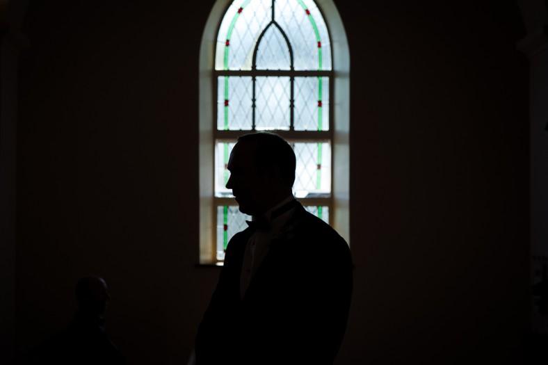 groom in church
