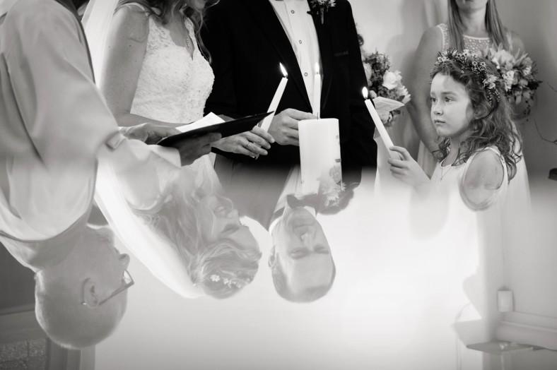 lighting candles wedding