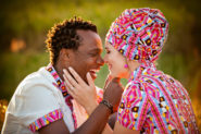 German bride, zulu groom