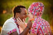 German bride, zulu groom