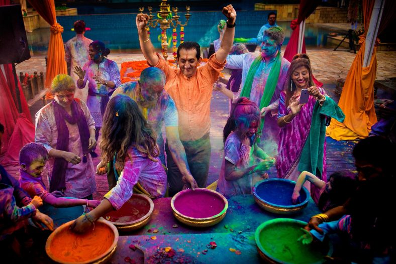 Holi fight