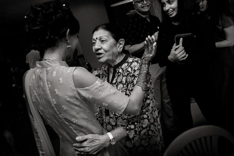 Hindu mehndi ceremony.